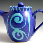 Teapot with Blue Swirls / Ann Lindell