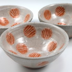 Small Bowls with Orange Dots / Ann Lindell